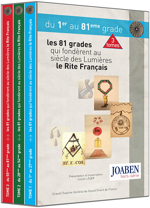 Coffret : Les 81 grades qui fondèrent au  siècle des Lumières le rite Français